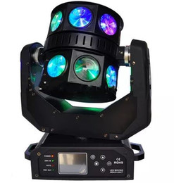 Wholesale moving head light rgbw cree - 16x12W Led Moving Head Double Flying Light USA Cree Led RGBW 4IN1 Color UFO Design Ultimate Rotate MYY