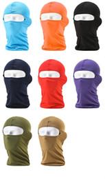 Casco táctico del ejército online-Balaclava Cycling Caps Máscaras a prueba de viento Ejército Militar Táctico Airsoft Paintball Casco Liner Hats Protección UV Block Máscara completa