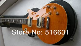 Wholesale electric guitar slash - HOT high quality New style yellow Slash Signature LP ebony Electric Guitar with case