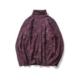 Wholesale Plaid Turtleneck - 2017 Men Autumn Clothing Knitting Sweater Men Personality Slim Fit Long Sleeve Turtleneck Pullovers Sweaters Big Size Pull Homme