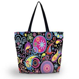 Argentina Floral Tote plegable de las mujeres bolso de compras bolso de la señora de la bolsa de embalaje de comestibles Tote playa cremallera cierre bolsillo SB-1914 Suministro
