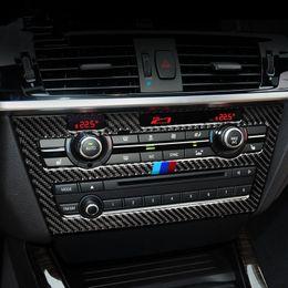 Wholesale carbon fiber for car interior - Car styling Carbon Fiber Center Console CD panel decoration decals for BMW X3 F25 X4 F26 2011-17 Interior molding cover trim