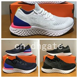 Wholesale Instant Black - 2018 New Epic React Womens Mens Running Shoes Instant Go Fly Breath Comfortable Sport Boost For Men Women Athletic Sneakers Size 36-45