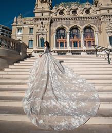 De luxe Champagne manches en dentelle appliques robes de mariée robe de bal Robes de mariée Pageant robes de mariée de mariage Taille personnalisée 2-16 ZW713249 ? partir de fabricateur