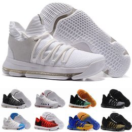 Wholesale Kevin Durant Easter Shoes - 2018 FMVP Correct Version Kevin KD X 10 Men Basketball Shoes Warriors Home Wolf Durant 10s Training Sports shoes Sneakers US 7-12