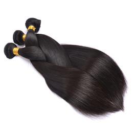 Canada Gros droite bon 8A Bundles brésiliens de cheveux avec la fermeture 3pcs prolongements indiens de cheveux indiens de cheveux vierges malaisiens de expédition libre supplier good peruvian hair Offre