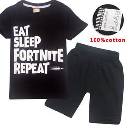 Été Enfants Garçons Vêtements Filles Fortnites T-shirt Dessin Animé Coton Enfants T-shirt 2pcs Jeu Big Escape Legend T-shirt + Pantalon Ensemble ? partir de fabricateur