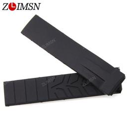 relojes para hombre panerai Rebajas para Tissot Watchband Man 20mm Negro Multicolor correa de reloj de goma de silicona buzo correa con acero desplegable Broche para T048