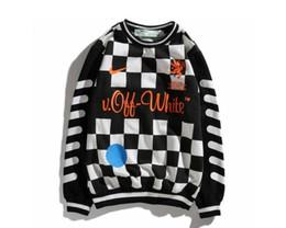 Electrodomésticos online-Europa y los Estados Unidos marea productos base 18SS conjunto Copa del mundo ropa de fútbol pareja hombres diseñador sudadera con capucha mujeres blanco suéter deportivo