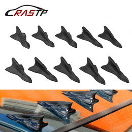 2019 nastro in vinile bianco RASTP 10pcs Universal Auto Car Vehicle Tetto Shark Tail Fin Black Vortex Wing Tip Type Decorazione RS-LKT023