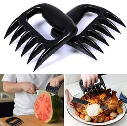 Wholesale Charcoal Electric - 2pcs Grizzly Bear Paws Meat Claws Handler Fork Tongs Pull Shred Pork BBQ Barbecue Tools BBQ Grilling Accessories Without retail box 180320