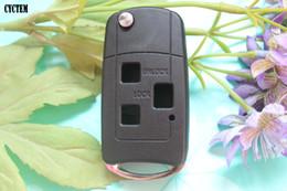 Wholesale Toyota Prado Remote Key - CYCTEM Car Folding Key Shell 3 Buttons Modified Remote Key Fob Case Blank Cover Fit For Toyota Camry Prado Previa