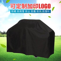 Wholesale Rain Chocolate - 190T Outdoor Grill Cover Rain Waterproof Sunscreen Dustproof High Temperature Grill Cover BBQ bbq