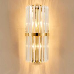 Luzes de parede de luxo on-line-Lâmpada de parede de cristal moderna parede de luz de parede de iluminação Crystall Sconce para o corredor de varanda de cabeceira com E14 soquete
