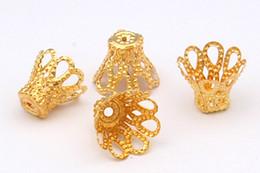 fiore per gioielli Sconti 1000 pz / lotto 6x6mm Iron CUP Flower End Bead Caps Connettori gioielli fai da te che effettuano cessioni