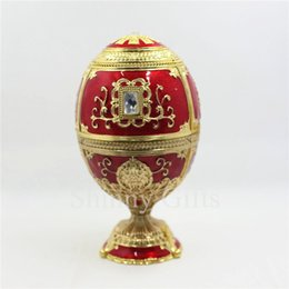 Wholesale enamel egg - High Quality Handmade Egg Shape Wedding Favor Toothpick holder Enamel Gift Sets Wholesales