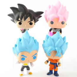 Dragon Ball Super Toy Son Goku Action Figure Anime Super Vegeta POP Modello Doll Pvc Collection Giocattoli per bambini Regali di Natale da
