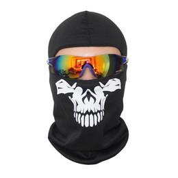 Masque facial course de ski en Ligne-Hiver Vélo Visage Masque bts Balaclava Masques Soleil Vent Courir Snowboard Ski Et Poussière Masque Crâne 2N