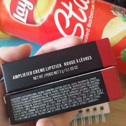 2019 nome do lábio 2018 Marca Fosco Amplieied Creme Batons Rouge Um Levres Maquiagem Famosa Bala Maquiagem Lip Stick 3g com Nome Inglês