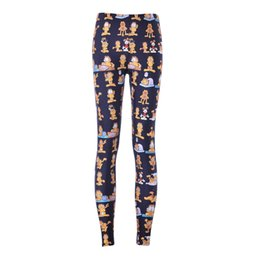 Wholesale 3d Sexy Cartoon Girls - NEW 3520 sexy girl women Cartoon The Garfield 3D prints polyester elastic fitness Women leggings pants Plus size