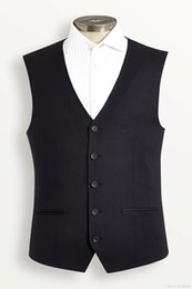 Wholesale Men Red Dress Vest - 2018 Men's Black Vest Sleeveless Male Waistcoat For Wedding Dresses Wedding Classic Masculino Social Blazer Waistcoat