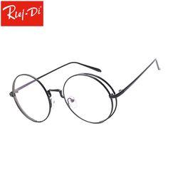 2c7a3ddf02361 2019 retro round glasses clear WZ904 Metal Redondo Retro Claro Lentes  Marcos Mujer Mujer Gafas Vintage