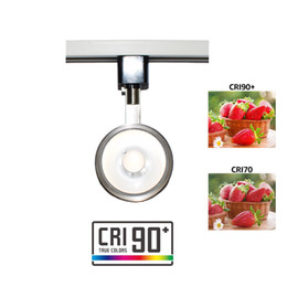 lámparas halógenas para cocina Rebajas Luminaria LED Track Track Head Lighting integrada CRI90 con 3000K Warm White 110V 12W Ángulo ajustable con H Type Track System