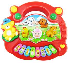 Animal ferme musique jouet en Ligne-Nouveau bébé Enfants Cartoon Musical Piano Jouets éducatifs Musique Animal Farm Piano coloré Musique développement Jouets cadeau de Noël