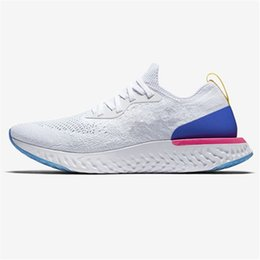 Wholesale womens pink tennis shoes - New Epic React Womens Mens Running Shoes Instant Go Fly Breath Comfortable Sport Boost Size 5.5-11 For Sale Men Women Athletic Sneakers