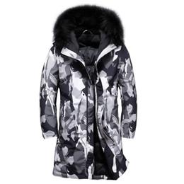 2018 neue Männer Winter Ente Daunenjacke dicke warme lange Daunen Parka  Mantel Mens beiläufige Oberbekleidung Camouflage drucken Feder Jacke  männlich ... cb36a53882