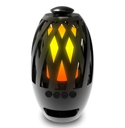 Argentina Lámpara de Llama portátil Bluetooth Altavoz de Luz Suave para iPhone Android Reproductor de MP3 Altavoz Al Aire Libre Con Led Luz de Fuego Nocturna DHL Envío Gratis cheap night light mp3 player Suministro