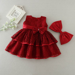 5c9e6c689153 3 to 24 months baby Girls bow lace Christening dresses