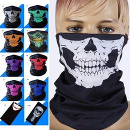 half mask lower Coupons - 2020 Halloween mask Multifunctional quick-drying magic headscarf Outdoor riding bib Sun protection dust scarf 20 wearing modes.