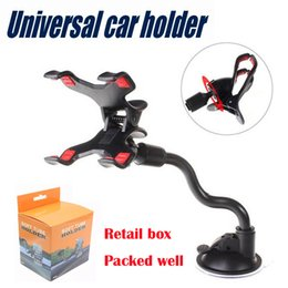 Wholesale Car Wells - Car Mount Long Arm Universal Windshield Dashboard Mobile Phone Car Holder 360 Degree Rotation with Strong Suction Cup X Clamp packed well
