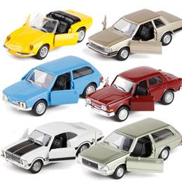 Alta simulação Volkswagen wagon carro do vintage retro muscle car, 1: 38 liga puxar para trás brinquedos do carro, modelo de coleção, frete grátis de Fornecedores de amarelo de brinquedo de ônibus