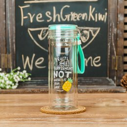 Wholesale Large Drink Glass - TECHOME 2017 Creative Large Capacity Fruit Bottle Leakproof Health Material Lovers Sports Glasses For Hiking Climbing Touring