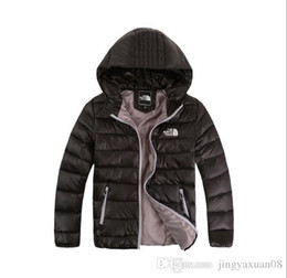 Grandi ragazzi indossano online-Best-seller nuovo piumino invernale wear boy and girl giacca per il tempo libero con cappuccio new medium e big boy light 120-160