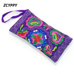 À la main Zipper Long Wallet Wall Bag sac à main brodé ethnique chinois brodé portefeuille ? partir de fabricateur