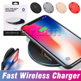 Goophone iphone plus online-Nuovo design Fast Charger Caricabatterie wireless in lega di alluminio senza fili con cavo USB per iphone X 8 Samsung Galaxy S9 S8 plus Nota goophone