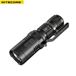 2019 дальний фонарь NITECORE EA11 CREE XM-L2 (U2) Светодиод макс. 900 люмен 190 м расстояние луча водонепроницаемый небольшой размер фонарик AA батарея фонарик дешево дальний фонарь