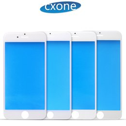 Wholesale Outer Frame - Front Touch Screen For iPhone 5 6 6s plus Cover Outer Glass Lens with Cold Press Middle Frame OCA install with Free DHL