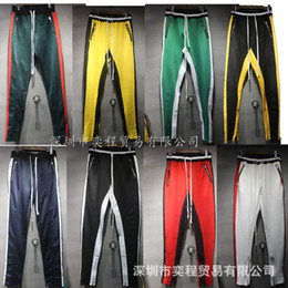 Wholesale Purple People - 2018 AAA Quality Fear of God joggers high street by people with pants fifth quarter Celtics pants FOG casual pants Skateboard Wholesale