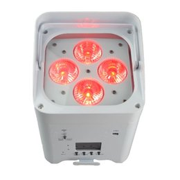 mini led par puede Rebajas Mini 4 * 18W batería dmx inalámbrica led par light 6 en 1 rgbwy uv efecto de iluminación de escenario para soporte interior app dj bar