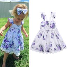 9f9f0c7fcfb54 robe d été bébé violet Promotion 2018 nouveaux bébés filles robe d été mode
