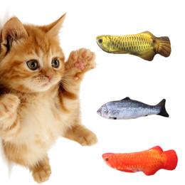 Wholesale Gadget Fun - Artificial Fish Plush Pet Cat Puppy Dog Toys Sleeping Cushion Fun Toy Cat Mint Catnip Toys Gadget