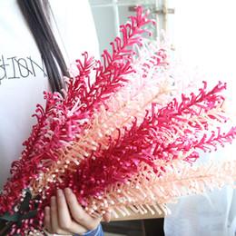 succulenti di plastica Sconti ROSEQUEEN Bracken plastica artificiale felce succulente pianta fiore finto fogliame fai da te composizione floreale matrimonio decorazione della casa