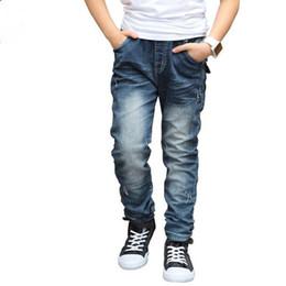 Estilo coreano da forma do verão dos meninos on-line-Nova Chegada 2017 Crianças Meninos Calças de Brim Calças Moda Estilo Coreano Primavera Verão Denim Sólidos Calças Compridas Crianças Meninos Roupas Hot