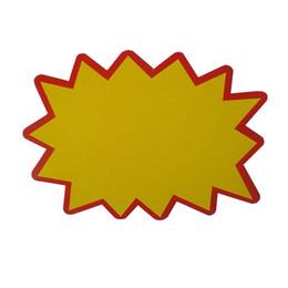 2019 impresión de tarjetas de saludos Etiqueta de precio de venta al público más vendida papel POP POP Supermercado Explosión publicidad promoción / cartel de papel envío gratis QW7152