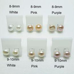 Orecchini di perle colorate acqua dolce natura perla 10 coppie per le donne da