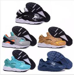 Wholesale Pa Lighting - cheap air Huaraches Run PA Premium Black White Knit Man & Women running shoes Air Huaraches For Men Women Basketball Shoes sneakers
